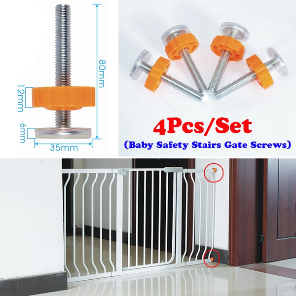 Baby Safety Stairs Gate Screws Bolts Locking Nut Spare Part Accessories Kit