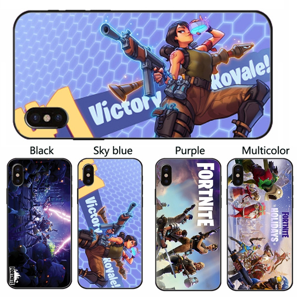 cool fortnite cell phone back case cover soft tpu coque for iphone x 8 8 plus 7 7 plus 5s se 6 6s plus samsung galaxy s9 s9 plus s8 s8 plus - coque fortnite samsung a6