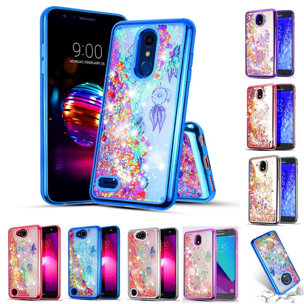 premium selection 1ce2a aa6fe or LG K30 Case, LG Premier Pro LTE Case, LG K10 2018 Phone Case Sleeve  Phone Case Flowing Glitter Sparkling Skin Slip Guard Grip Wrap Slim Cover