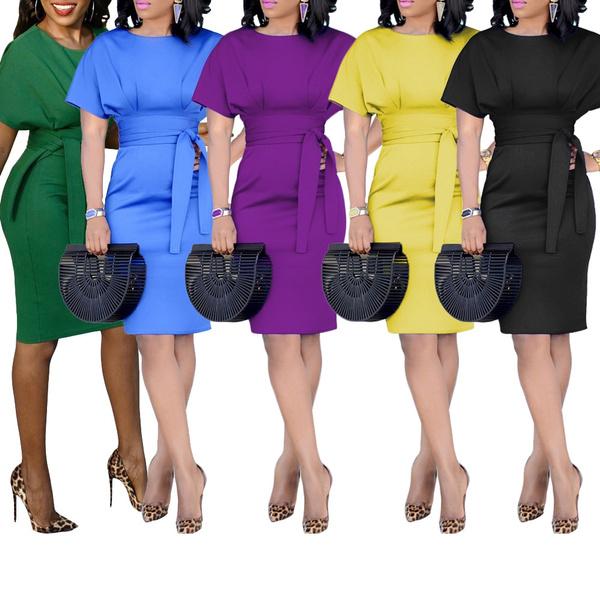 Women Loose Casual Pencil Vestidos