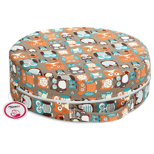 Zicac Baby Toddler Portable Round Dining Chair Booster Seat High Chair Booster Cushion Coffee
