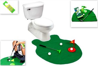 toilet, Bathroom, Golf, putter