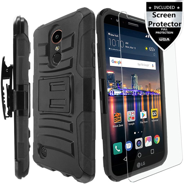 new concept ed3d6 0cb05 LG Aristo Case, LG Aristo 2 Case,LG Aristo 2 Plus Case, LG Rebel 2 Case, LG  Risio 3 Case With HD Screen Protector,IDEA LINE Heavy Duty Armor Shock ...