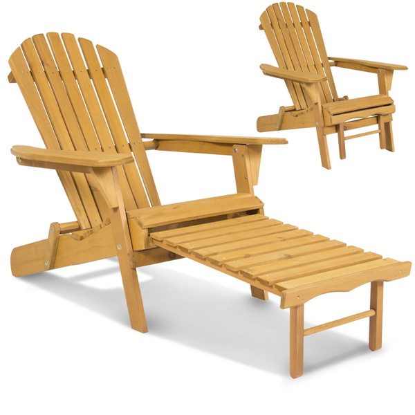 Pleasing Outdoor Wood Adirondack Chair Foldable W Pull Out Ottoman Patio Furniture Cjindustries Chair Design For Home Cjindustriesco