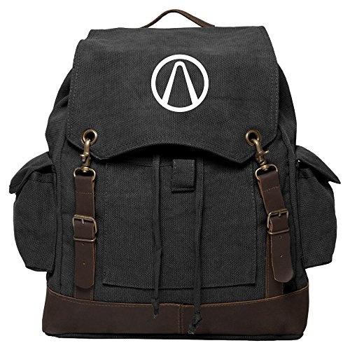 Borderlands Vault Vintage Canvas Rucksack Backpack with Leather Straps