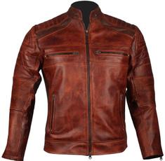 motorcyclejacketmen, brown, caferacerjacket, motorcylejacket