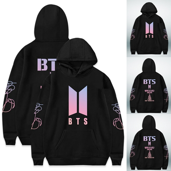 2018 New Bts Love Yourself Print Women/Men Hoodies Pullovers Sweatshirts K Pop Fans Sweatshirt  Album Hoodie Sweatshirt Autumn And Winter Clothes by Wish