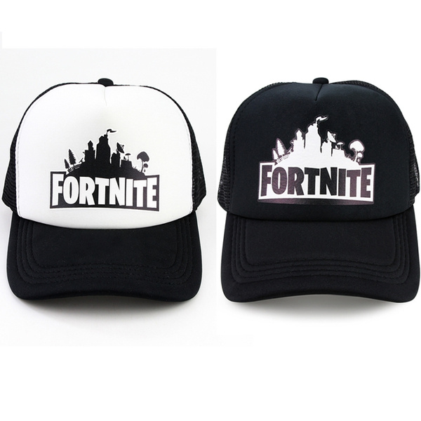 2018 shoes new concept promo code Popular Unisex Fortnite Game Fans Caps Trucker Style Cap Baseball Cap  Fortnite Battle Royale Hat ( Adjustable Size , Color : Black , White)