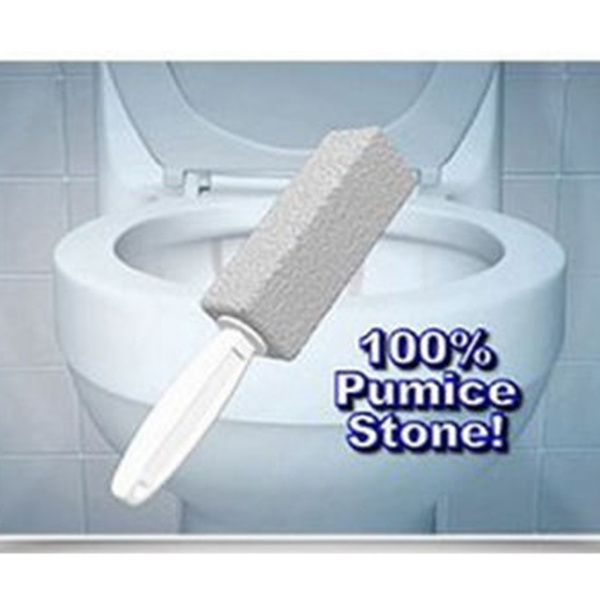 2pcs Practical Water Toilet Bowl Pumice Stone Cleaner Brush Wand Household