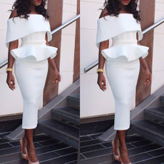 pencil, slim, office dress, womendressplussize