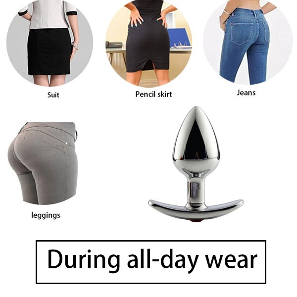 Geek Jeweled Metal Butt Plug For Woman All Day Ass Plug Adult Sex Toy For Beginner