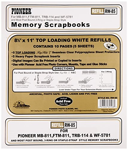 Wish Pioneer Photo Albums Rw85 85 X 11 White Top Loading