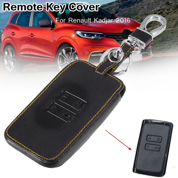 Replacement Car Remote Key Case PU Leather Cover Key Protective Shell for  Renault Kadjar High Quality