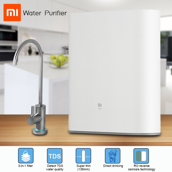 Original Xiaomi Water Purifier 1A Countertop with Faucet Support WiFi  Connect Smart Mi Home APP RO Reverse Osmosis Filter