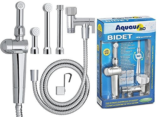 Wish Rinseworks Aquaus 360 Patented Hand Held Bidet With Abs