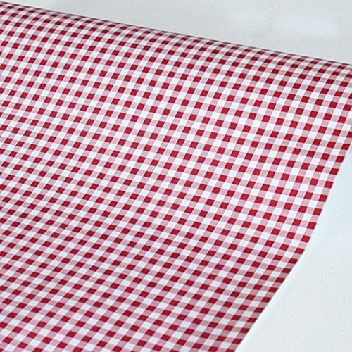 Wish Simplelife4u Red Holiday Gingham Contact Paper Self Adhesive Shelf Liner Makeup Cabinet Decor 17 7 Inch By 9 8 Feet