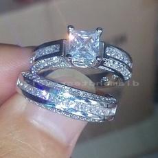 Sterling, DIAMOND, 925 sterling silver, Princess