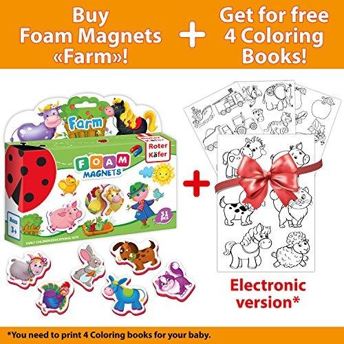 Wish Fridge Magnets For Toddlers Farm Animals 31 Pcs