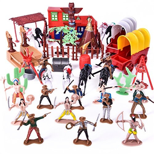 Deluxe Wild West Cowboys and Indians Playset NEW