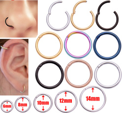 Steel, goldnosering, gold, Women jewelry