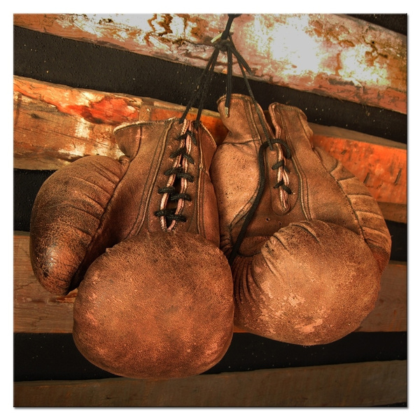 Boxing Gloves Vintage Photo Poster Print Sport Wall Art Canvas Painting Decor