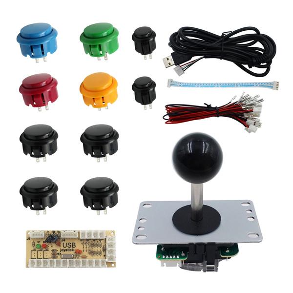 SJJX Joystick PC MAME Retropie Windows Controller Arcade Game Arcade  Controller DIY Kit Raspberry Pi Button