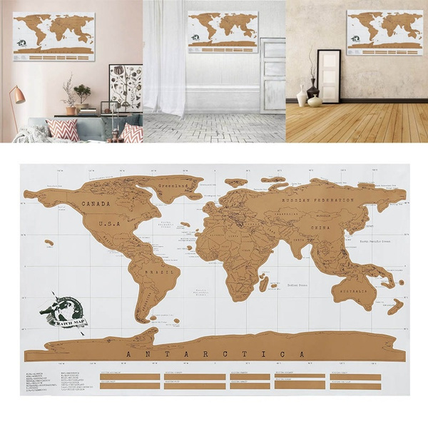 Wish 825x59cm scratch map of the world travel edition deluxe wish 825x59cm scratch map of the world travel edition deluxe scratch off map personalized world map poster traveler daily record gumiabroncs Images