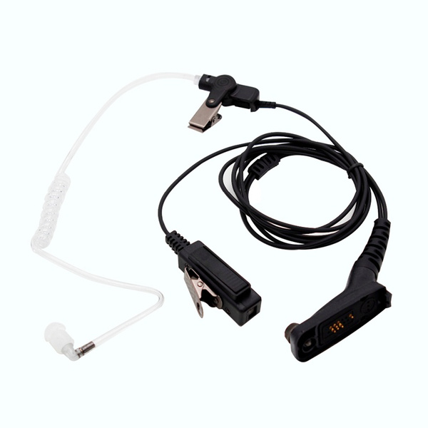 FBI Air Acoustic Tube Earpiece PTT Mic Headset for Motorola XiR P8668 P8268  APX 7000 XPR 6500 XPR 6550 Walkie Talkie Car Radio Earphone