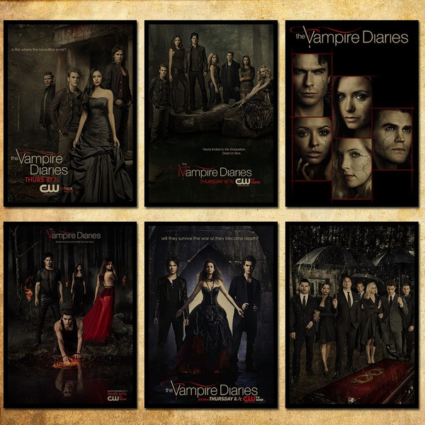 Unframed The Vampire Diaries Tv Poster Kraft Paper Wallpaper Decoration 42 X 297cm116165 Inch