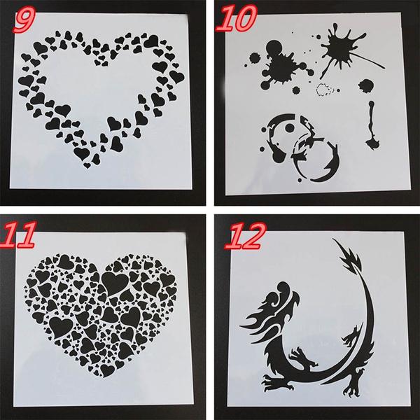 Wish | 2 Pcs DIY Craft Layering Stencils For Wall Painting ...