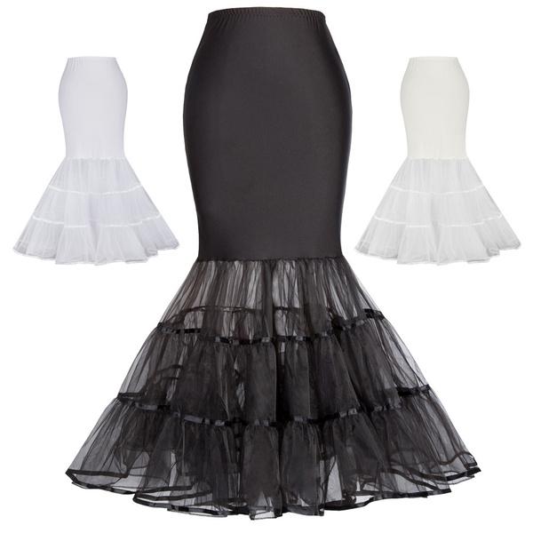 cfa584079744 1 Hoop Petticoat Women's Vintage Dress Crinoline Underskirt Mermaid ...