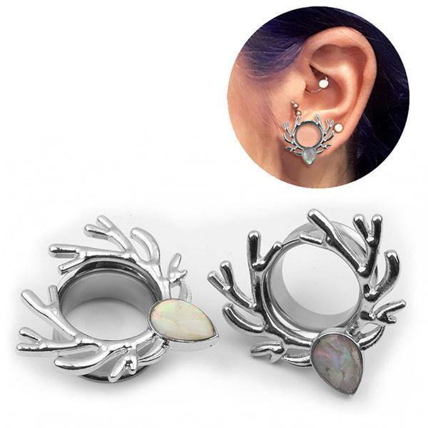 Jewellery & Watches Stainless Steel  Deer Screws Ears Gauges Flesh Tunnel Plugs Stretchers Expander