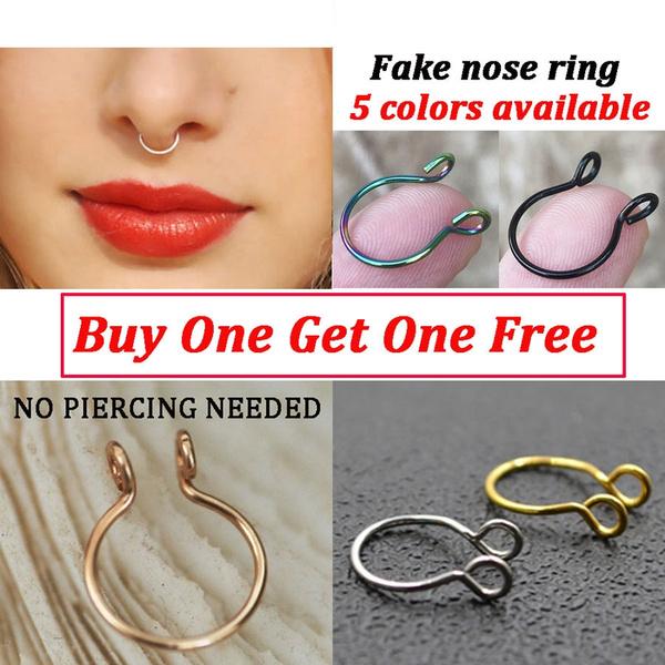 Fake Nose Ring Fake septum Ring Fake Piercings 20 Gauge Septum Ring