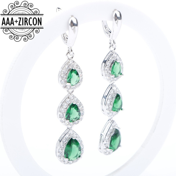 Kendra Scott Nicola Large Chandelier Earrings Source Wish Water Drop Green Zircon Silver 925 Costume Jewelry Sets For