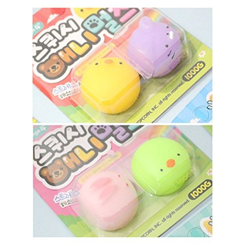 Random Soft Mochi Mochi Animals Jelly Toy Soft Squishy Jelly Pudding Toy 1 Set