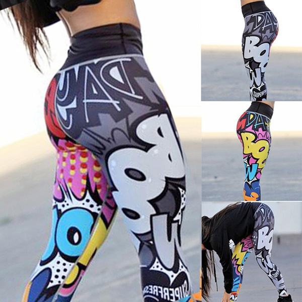 f1c6867931 Women's Fashion 3D Printed Yoga Pants Leggings Sport GYM Running ...