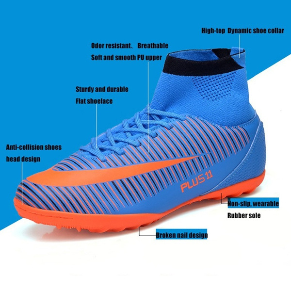 79053dc6a Home | Men Soccer Shoes Indoor Futsal Shoes with Socks Professional Trainer  TF Football Boot High Ankle Zapatillas