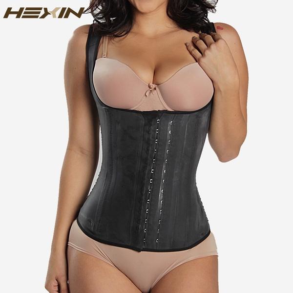 e87b8ac57 HEXIN Black 4 Rows Hooks Latex Waist Cincher Hot Body Shaper Steel ...