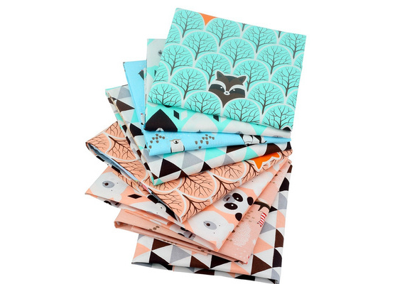 Bear&Fox&Penguin Cotton Patchwork Tissue Fabric Of Handmade DIY Quilting Sewing Baby&Children Sheets 40*50cm 8pcs/lot