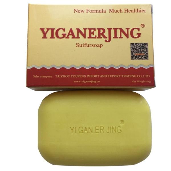 yiganerjing Sulfur Soap Skin Conditions Acne Psoriasis Seborrhea Eczema  Anti Fungus Bath whitening soap shampoo soap making