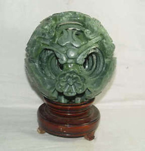 plendiferous Chinese jade flower magic Puzzle Ball cute 120MM