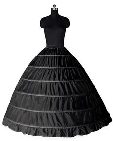unterrock, brautkleid, petticoat, schwarz
