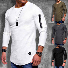 Summer, Fashion, Long Sleeve, topsamptshirt
