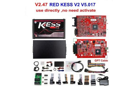 2018 New Online KESS V2 47 EU Red Kess V5 017 Unlocked and Activated  Manager Tuning Kit ECU Programmer Better Than KESS V4 036