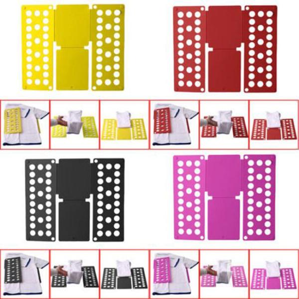 T-Shirt Clothes Folder Adult Lazy Fast Flip Fold Folding Board Laundry Organizer