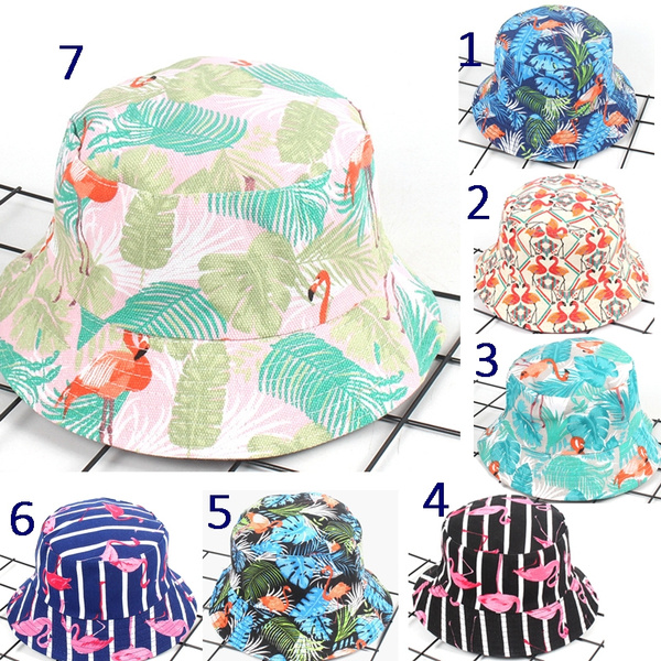 989f73b0419 Fashion Tropical Plant Double Side Bucket Hat Flamingo Leaf Boonie Hat Men  and Women s Sun Hat Travel Go Shopping Party Casual Cotton Hat Fishing Hat