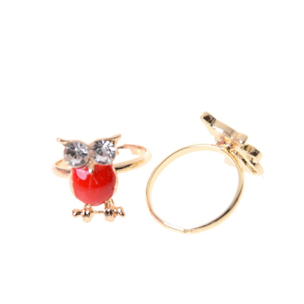 Geek Fashion 2pcs Adjule Kids Sweet Alloy Ring Children Costume Jewelry Toy Gift Xdperfect Goods