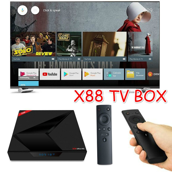 New X88 Android TV OS 4GB/32GB RK3328 4K TV BOX Quard Core with Voice  Remote Android 7 1 Media Player TV Box Tools Accessories