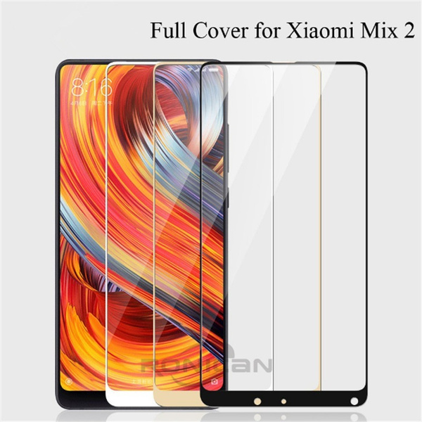 Wish | Xiaomi Mi Mix 2 Glass 9H HD Tempered Glass Film For Xiaomi Mi Mix 2 Screen Protector Full Cover Black Xiaomi Mi Mix2 Glass Film 5.2