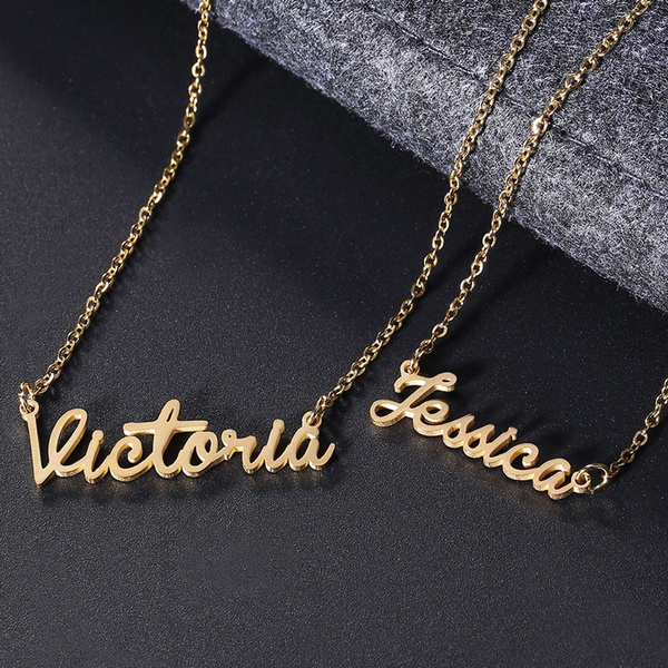 Fashion Women Men Customized Cursive